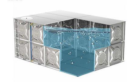Modüler su deposu: Prizmatik modüler su depolarımız paslanmaz, galvanizli ve boyalı olarak isteğinize göre imal edilmektedir.